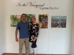 Lynne and Karl at the Center for Arts and History. Lynne is our dear friend and a serious wine lover!